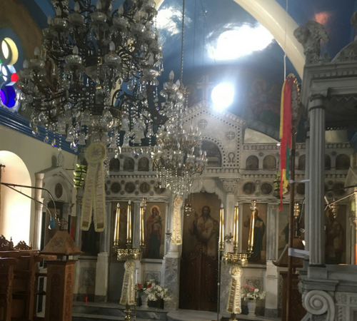interior of greek orthodox church
