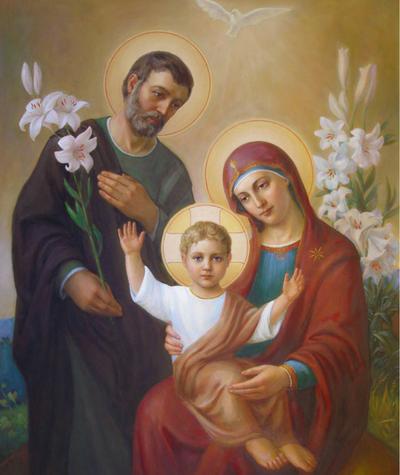 Holy Family painting by Svitozar Nenyek