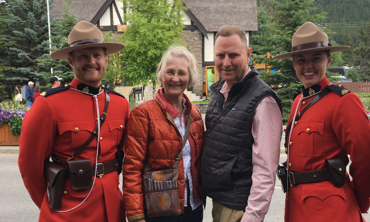 Welcoming committee in Banff - Royal Canadian Mounted Police